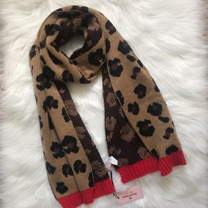 Juicy Couture Cheetah Print Statement Knit Scarf